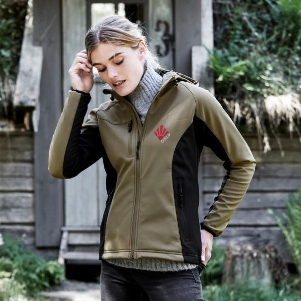 DSLV Damen Hooded Performance Softshell Jacket